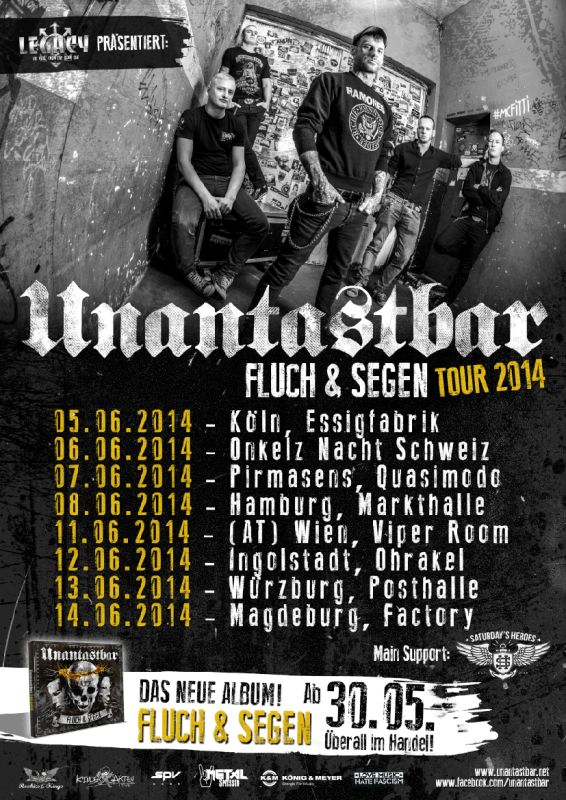 unantastbar fluch & segen tour 2014 live punk