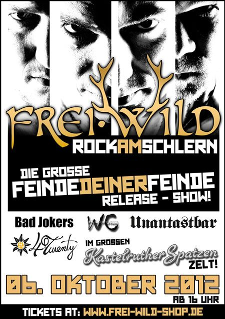 Rock am Schlern Unantastbar Frei.Wild Bad Jokers 4Twenty Kastelruth