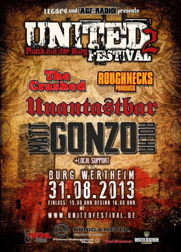 Unantastbar Matt Gonzo Roehr United Festival The Crashed Roughnecks Wertheim
