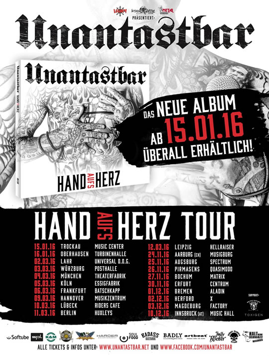 unantastbar hand aufs herz album tour tickets