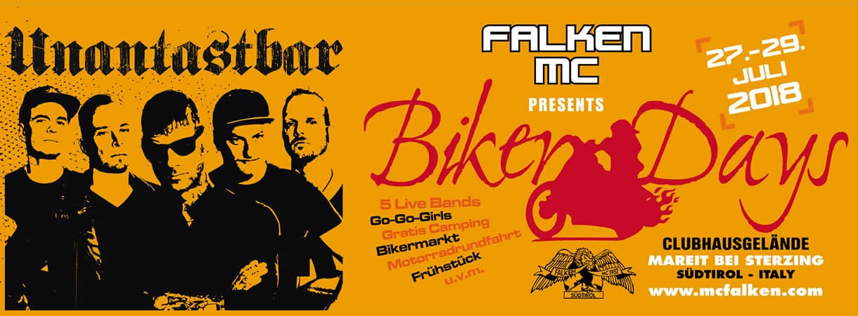 bikerdays südtirol unantastbar mc falken