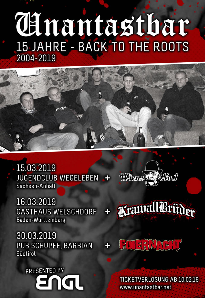 unantastbar 15 jahre back to the roots
